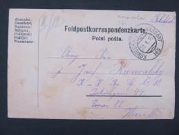 GANZSACHE Korrespondenzkarte Zugstempel Königgrätz - Hannsdorf 1916 Nr. 166 // D*18766 - Briefe U. Dokumente