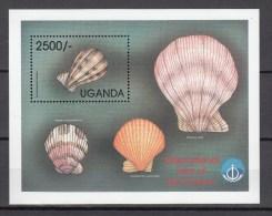 Uganda 1999.1V In Block,shells,schelpen,schalen,coquilles,conchas ,conchiglie,MNH/Postfris(L2039) - Coquillages