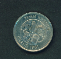 ICELAND  -  1981  5k  Circulated Coin - Iceland
