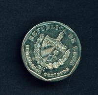 CUBA  -  2001  25c  Circulated Coin - Cuba
