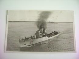R.C.T.   GIOBERTI  DA TARANTO  NAVE   SHIP  REGIA  MARINA  MILITARE  WARSHIP  VIAGGIATA  FORMATO PICCOLO FOTOGRAFICA - Guerre