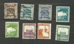 Palestine N°48a, 50, 57, 63, 64, 65A, 66, 67 Cote 3.55 Euros - Palestine