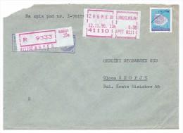 Yugoslavia,Croatia,Zagreb.Red Registered Mail.Letter. - 1945-1992 République Fédérative Populaire De Yougoslavie
