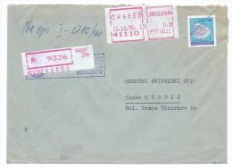 Yugoslavia,Croatia,Zagreb.Red Registered Mail.Letter.post Label - 1945-1992 République Fédérative Populaire De Yougoslavie