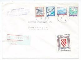 Yugoslavia,Croatia,Zagreb.Red Registered Mail.Letter.Croatia Stamp And Yugoslavia Stamps - 1945-1992 République Fédérative Populaire De Yougoslavie