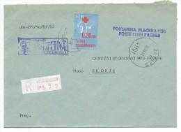 Yugoslavia,Croatia,Zagreb.Red Registered Mail.Letter.Red Cross - 1945-1992 République Fédérative Populaire De Yougoslavie