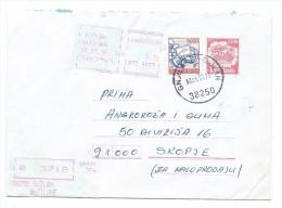 Yugoslavia,Croatia,Gnjilane.Red Registered Mail.Letter.Postal Stationary And Stamp,postal Label - 1945-1992 République Fédérative Populaire De Yougoslavie