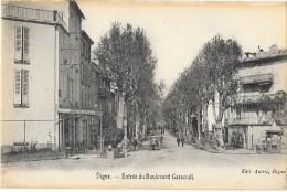 DIGNE (04) Entrée Du Boulevard Gassendi - Digne