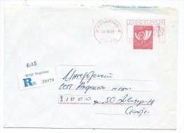 Yugoslavia,Macedonia,R - Letter.Stamped Stationery 220.post Horn - 1945-1992 République Fédérative Populaire De Yougoslavie