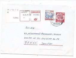 Yugoslavia,Kosovo.Gjakovica,R - Letter.Stamped Stationery 1200.post Carriage,post Label 17000 - 1945-1992 République Fédérative Populaire De Yougoslavie