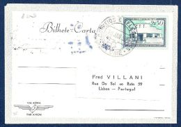 ST THOMAS PRINCE Aerogramme 2.5E Post Office 1952 S Tome Cancel To Portugal! STK#X20173 - St. Thomas & Prince