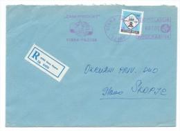 Yugoslavia,Serbia,Stara Pazova,R - Letter,rosse Slogan,flamme - ZANATPRODUKT,chess Stamp Used - 1945-1992 Socialist Federal Republic Of Yugoslavia