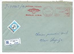 Yugoslavia,Bosnia And Herzegovina.Banja Luka.,R - Letter,red Slogan,flamme -,METAL,chess Stamp - 1945-1992 République Fédérative Populaire De Yougoslavie