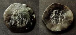 BYZANCE -  MANUEL I COMNENE  (1143-1180)  - ASPRON TRACHY  - BILLON - CONSTANTINOPLE - BYZANTINE  -T - Byzantine