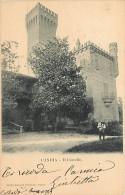CANDIA CANAVESE.  BELLO SCORCIO DEL CASTELLO. CARTOLINA VIAGGIATA PRIMI '900 - Andere Steden