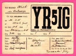 QSL - Radio - Hartley - Bucarest - Q.R.A. Transsylvania - Transylvaine - Réseau Belge - 1935 - Radio