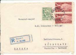 Yugoslavia FRONTPAGE Of A Registered Cover Sent To Denmark Beograd 9-6-1955 (only The Frontpage) - 1945-1992 Socialist Federal Republic Of Yugoslavia