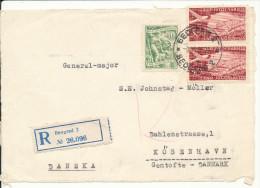 Yugoslavia FRONTPAGE Of A Registered Cover Sent To Denmark Beograd 9-6-1955 (only The Frontpage) - 1945-1992 Repubblica Socialista Federale Di Jugoslavia