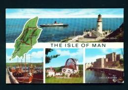ISLE OF MAN  -  Multi View  Unused Postcard - Ile De Man