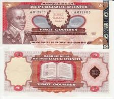 HAITI   20   Gourdes  Commemorative Issue  P271A       2001   UNC - Haiti