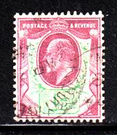 Great Britain Used Scott #129 1 1/2p Edward VII, Violet & Green - 1902-1951 (Rois)