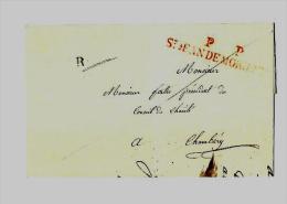Duché De Savoie -  Saint Jean De Maurienne - Tarif Du 1.6.1836 Au 31.5.1844 -L.I. 1er Ech. - - Storia Postale