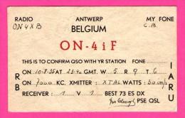 QSL - Radio - Antwerp - My Fone - Réseau Belge - 1936 - Bonaert - Harvenet - Via V.R.B. Postbox 65 Ghent - Radio
