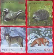 Moldova, Moldawien, Moldavie, 4 Stamps - Complete Series/ Animals, 2011 - Moldavie