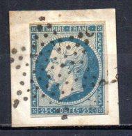 5/ France  : N° 15 Oblitéré Sur Fragment  , Cote : 285,00 € , Disperse Belle Collection ! - 1853-1860 Napoleon III