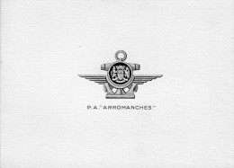 """P.A. """"ARROMANCHES""""    En 2 Volets  12x8,5CM - Documents"""