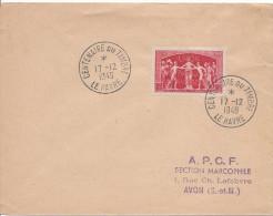 LE HAVRE CENTENAIRE DU TIMBRE 17 12 1949 Timbre Union Postale Universelle - Storia Postale