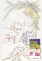 Carte-Maximum SAINT PIERRE Et MIQUELON N° Yvert 705 (MEILLEURS VOEUX) Obl Sp Ill 1er Jour - Cartes-maximum