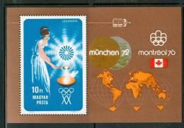 HUNGARY-1973.Souv.Sheet - Hungarian Medalists  / Sport MNH!  Mi.Bl.96. - Ungebraucht