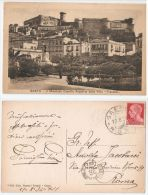 GAETA ( LATINA ) IL MAESTOSO CASTELLO ANGIOINI DALLA VILLA TRANIELLO - 1934 - Latina