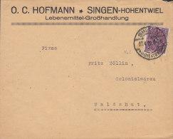 INFLA DR 191 EF, Auf Brief Der Fa. O.C. Hofmann, Mit Stempel: Singen 27.4.1922 - Infla