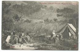 CPA ANIMEE CAMPEMENT, VALLEE DE LA MOUNDJIE, MAYOUMBA, CONGO FRANCAIS - Congo Français - Autres