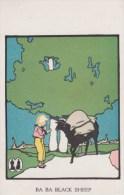 Nursery Rhyme ´Baa Baa Black Sheep´ Wenatchee WA Mens Boys Clothing Store, C1910s Vintage Postcard - Fairy Tales, Popular Stories & Legends