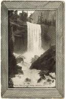 B&W Vernal Falls, Yosemite Valley, CA - Wooden Frame Border - Yosemite