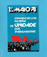 1.º MAIO - 1976 - PORTO - JORNADA DE LUTA - Autocolante Sticker Política - PORTUGAL - Autocollants