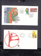 SOUTH  AFRICA: 1979 Health;  1995 RUGBY 95 WINNERS - FDC