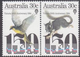 AUSTRALIA, 1985 VICTORIA ANNIV PAIR MNH - 1980-89 Elizabeth II