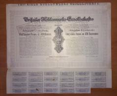 SHAREHOLDING, AKTIE, WERTPAPIER, AUSTRIA, OSTERREICH, 500 FRANCS, 1907 - Shareholdings