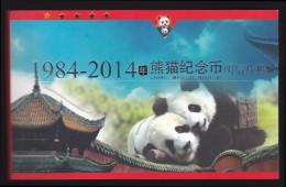 Panda - 31 Prepaid Cards Booklet Of China's Panda Commemorative Coins Patterns 1984-2014 - Cartoline