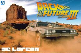 Back To The Future III De Lorean 1/24 ( Aoshima ) - Cars
