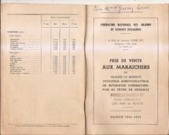 Honoré Roumanille Graines,bulbes Et Plantes-saint-remy De Provence-tarif 1950-1951 - Non Classés