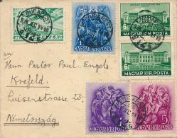 BUDAPEST  - 1938 , Brief Nach Krefeld - Hongrie