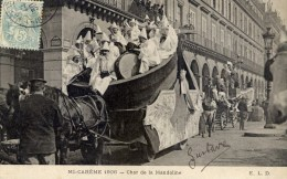 PARIS 1906 Les Fêtes De La Mi-Careme Char De La Mandoline Rue De Rivoli Très Animée  ELD - Otros