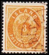1882. Aur-Issue. 3 Aur Orange. Perf. 14x13½ (Michel: 12A) - JF191458 - Neufs