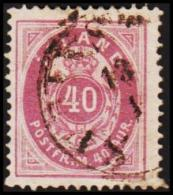 1882. Aur-Issue. 40 Aur Violet-lilac. Perf. 14x13½ (Michel: 15A) - JF191459 - Neufs