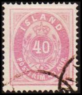 1882. Aur-Issue. 40 Aur Violet-lilac. Perf. 14x13½ (Michel: 15A) - JF191460 - Neufs